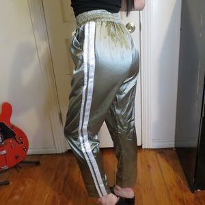 PrettyLittleThing Satin Striped Joggers